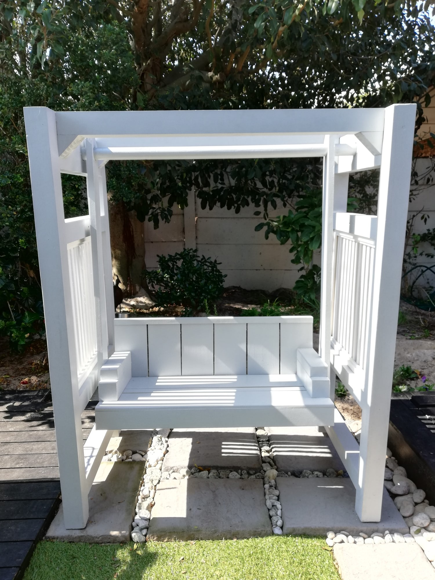 2-in-1 Bench Swing Front GREY