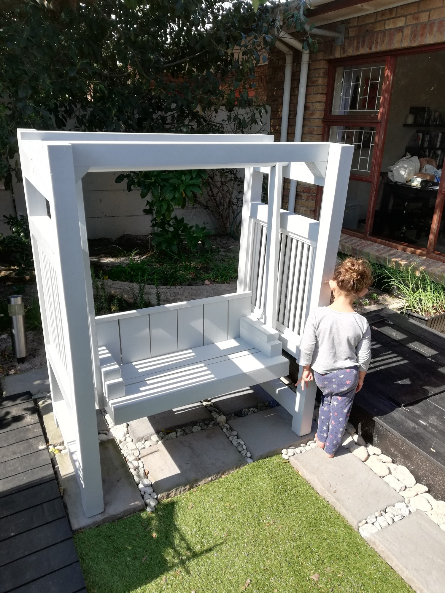 2-in-1 Bench Swing Grey