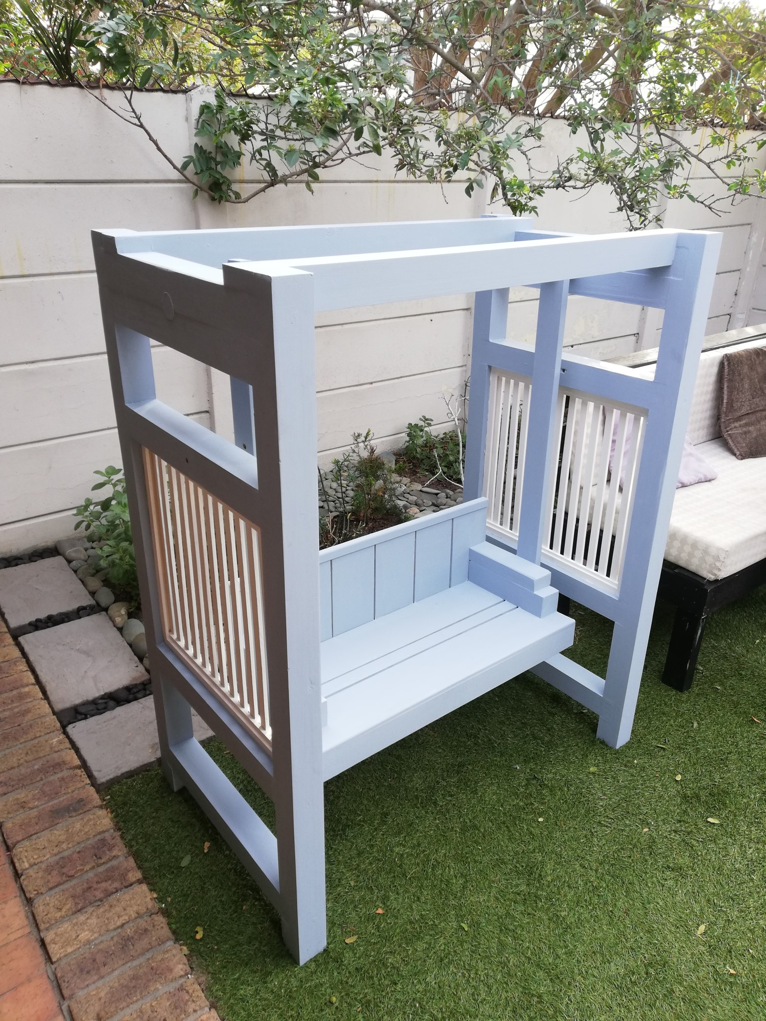 Blue Hanging Bench