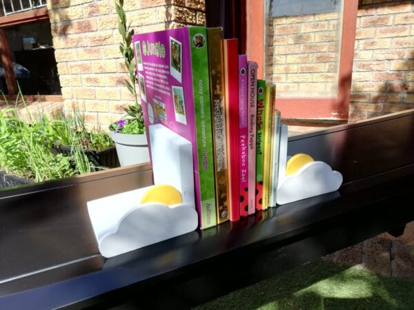 Sun and Cloud Bookend - Pips and Moo - Children's Wooden Toys and Furniture - Ladybird Bookend image