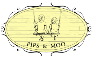 Pips and Moo logo, small, transparent background