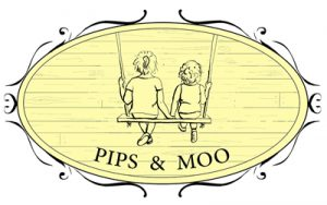 Pips and Moo logo, small, white background