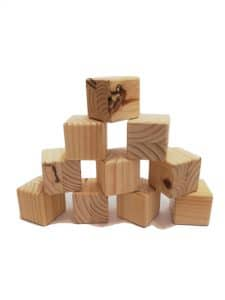 Bag of BIG Wooden Blocks Product Image (Natural) - Pips and Moo -Children'sWooden Toys and Furniture