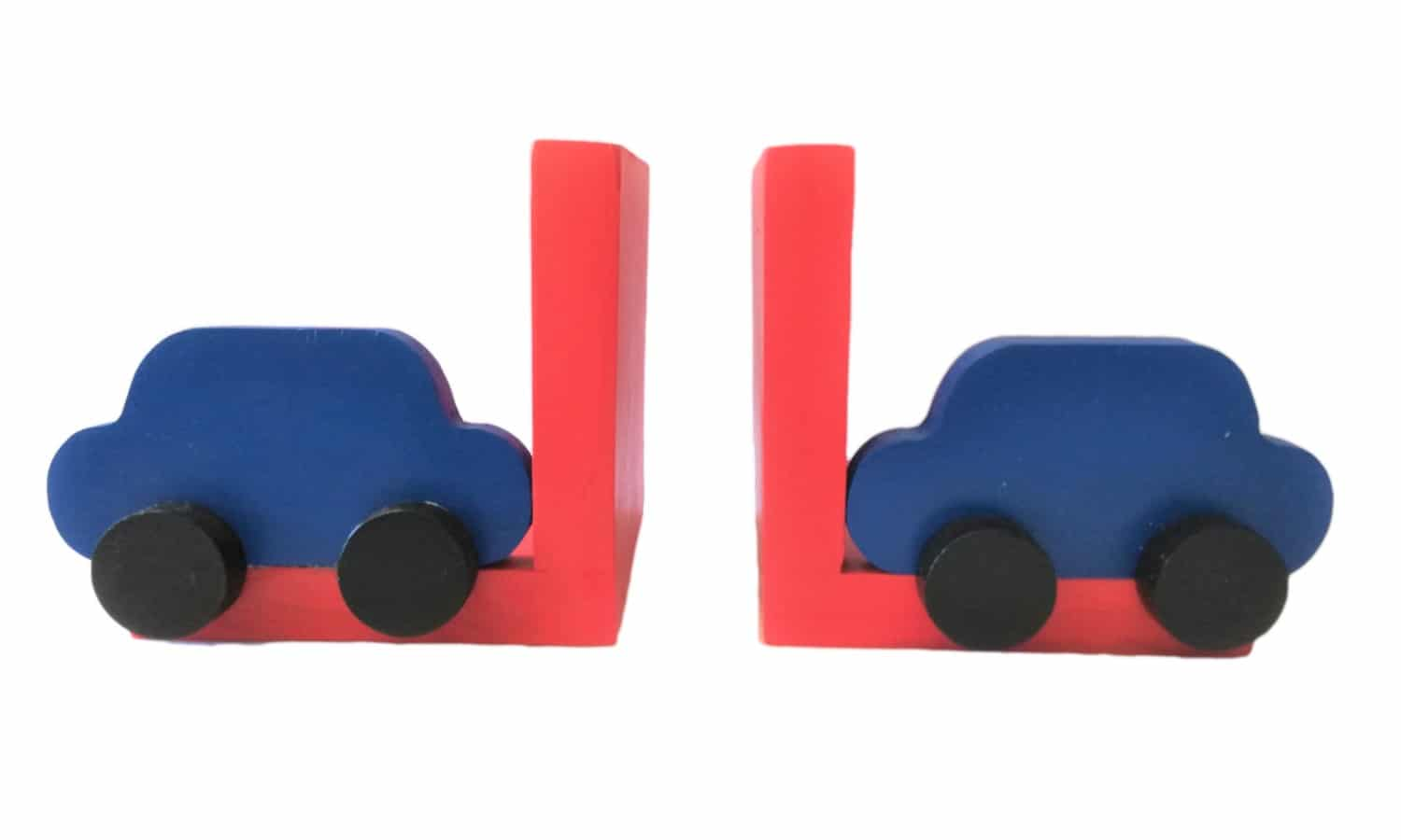 Wooden car bookend - Pips and Moo wooden toys