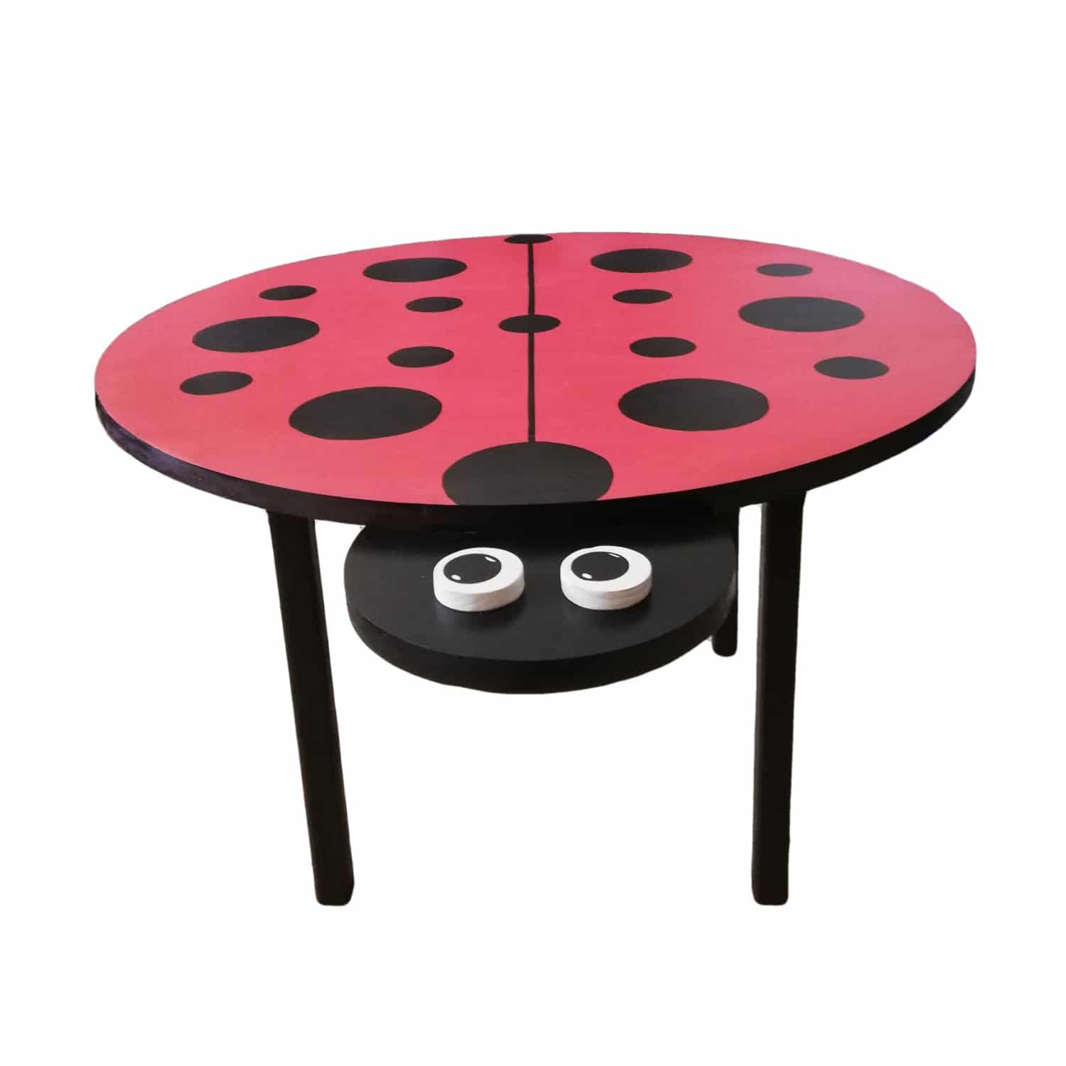 wooden ladybird table - Pips and Moo