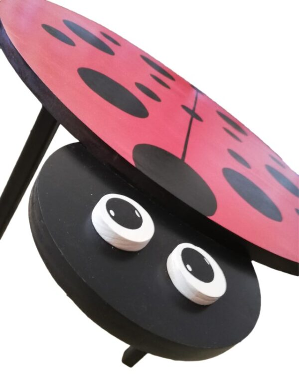 Wooden Ladybird Table Close Up - Pips and Moo - Children's Wooden Toys and Furniture