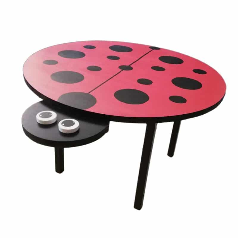 Wooden Ladybird Table Product Image - Pips and Moo - Children's Wooden Toys and Furniture