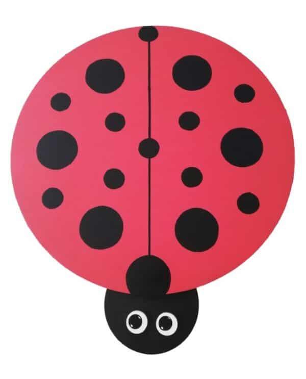 Wooden Ladybird Table Top View - Pips and Moo - Children's Wooden Toys and Furniture