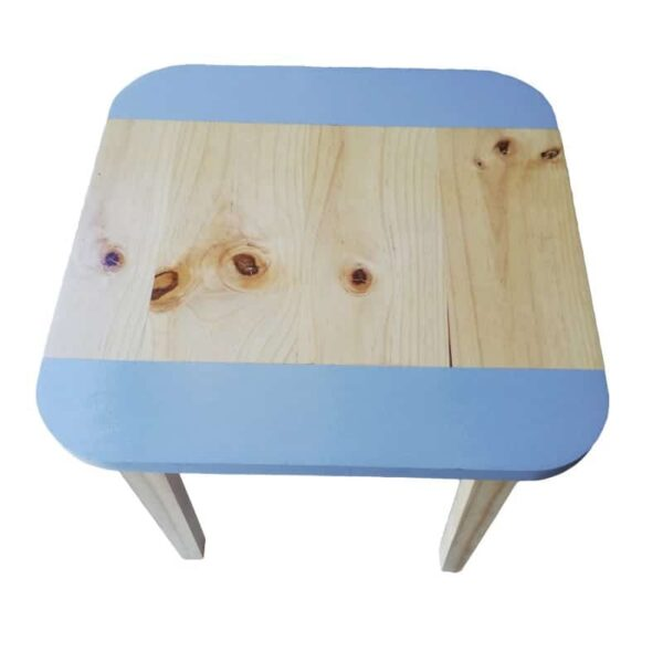 Grey Wooden Square Table (Medium) with rounded corners