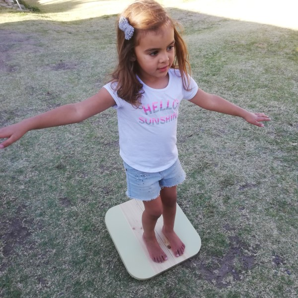 360 Balance Board - Child on Balance Board - Pips and Moo