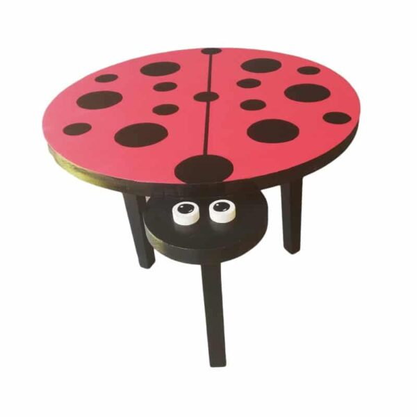 Medium Wooden Ladybird Table from Pips and Moo