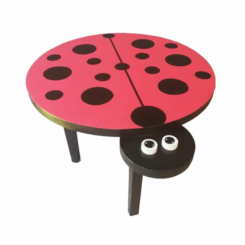 Pips and Moo Medium Wooden Ladybird Table