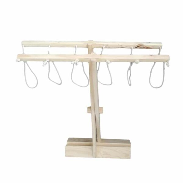 Children's Fold-up Washing Line Closed - Natural - Pips and Moo - Children's Wooden Toys, Furniture and Decor