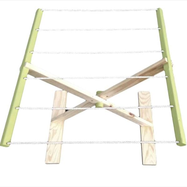 Children's Fold-up Washing Line - Green - Pips and Moo - Children's Wooden Toys, Furniture and Decor